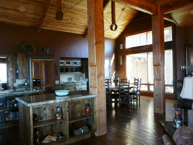 Reclaimed Doug Fir Flooring, Hand Hewn Timbers, Beams, Cabinets, & Trim