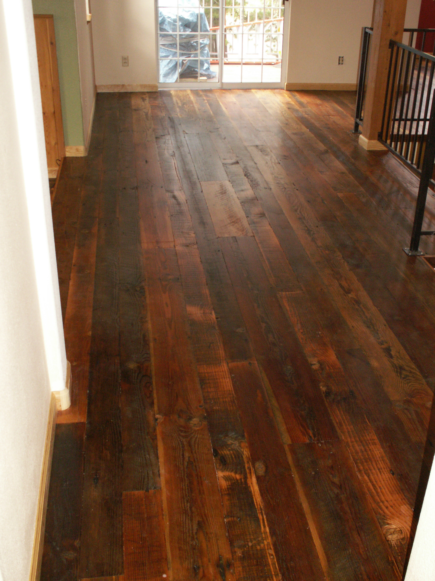 Reclaimed antique wide plank hardwood flooring for Reclaimed flooring