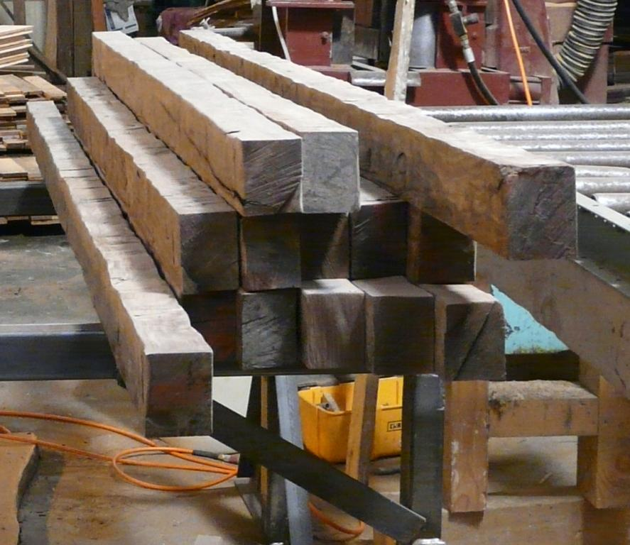 Custom made box beams to complement your wood flooring for Real wood box beams